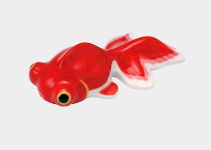 夏のインテリア 陶器 注文後の変更キャンセル返品 金魚箸置き 飾りにも 輸入 出目金 赤