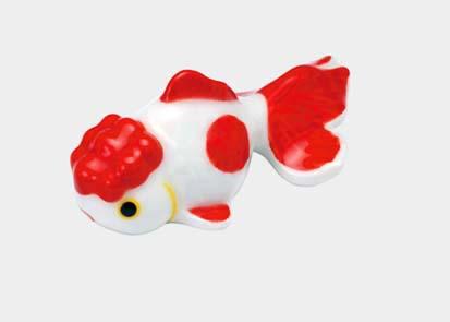 夏のインテリア 陶器 金魚箸置き オランダ 飾りにも 上質 流行 赤