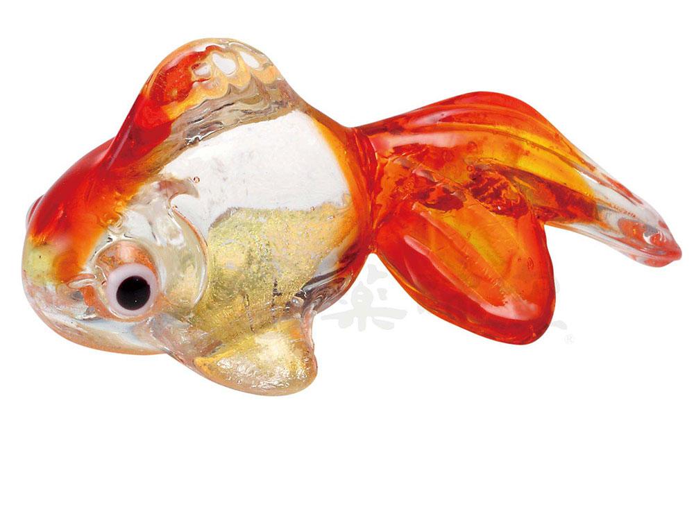 夏のインテリア お気に入り ガラス金魚箸置き 玄関やテレビ台に飾ってみて 朱 休み