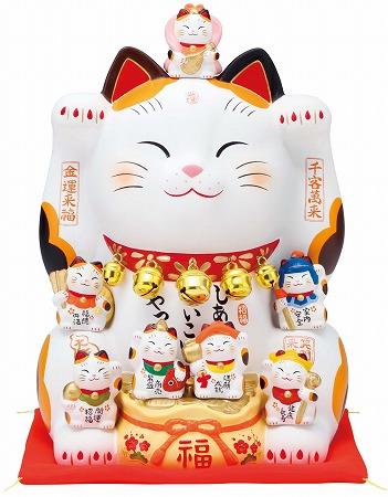 錦彩七福神招き猫(8.5号)
