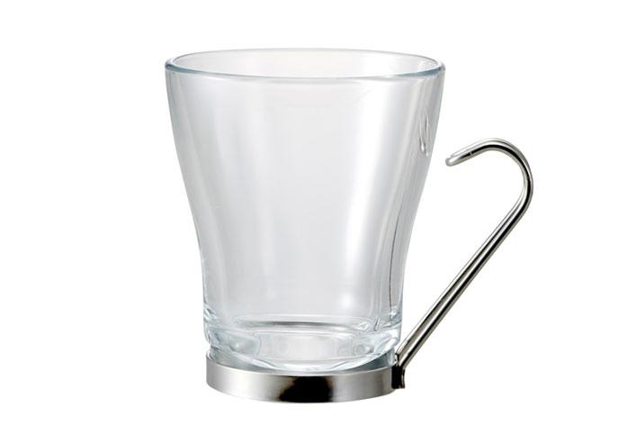 ステンレスの持ち手がオシャレ 1個から購入可能 カップ 爆買いセール コップ マグ 耐熱 強化 オスロ カプチーノ 激安通販専門店 コーヒー おしゃれ ホット 家庭用 235cc 業務用 カフェ