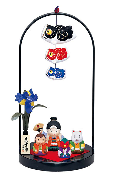 Jin Sai streamer decorations (momotaro) (stand 手籠)