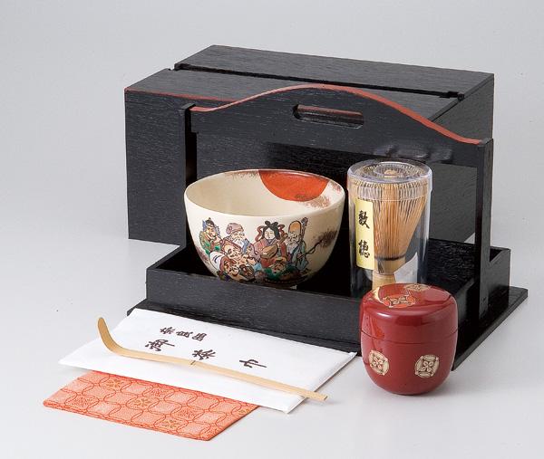 / 茶道具(茶箱)手提茶箱揃 /和食器