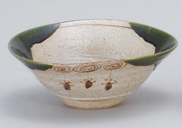 織部平茶碗(鉄山作)(桐)