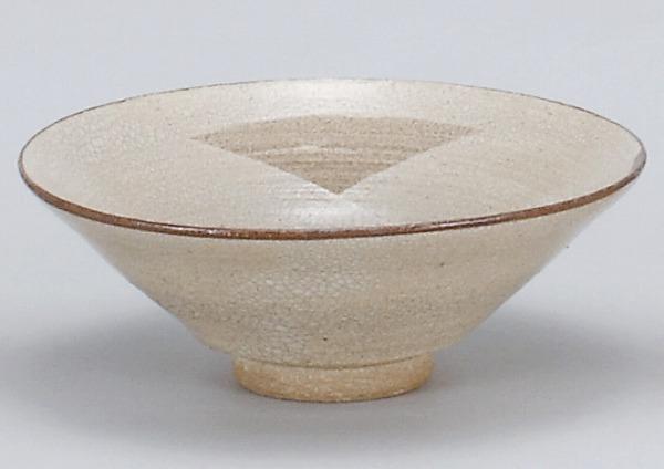 / 唐津平茶碗(鉄山作)(桐) /和食器