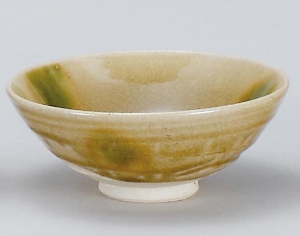 / 黄瀬戸平茶碗(景陶作)(木箱) /和食器