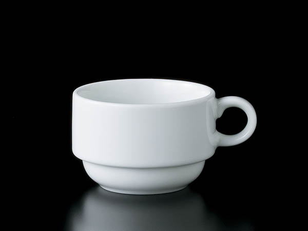 White Stack Coffee Cup