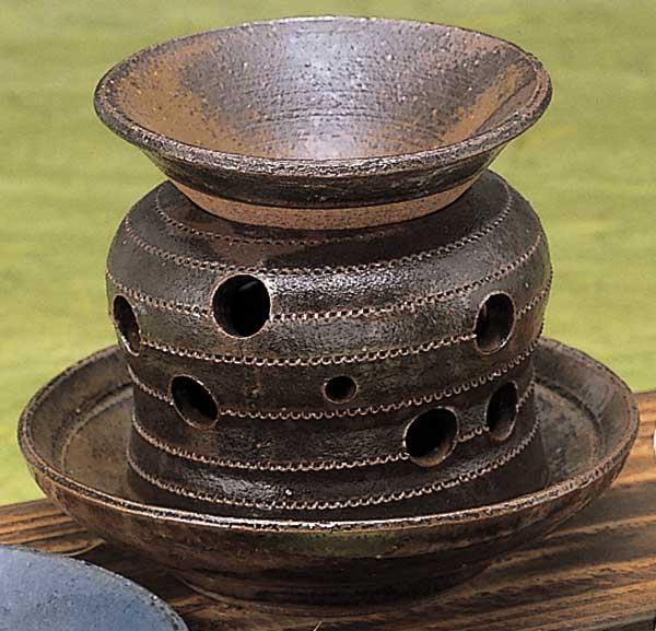 香炉 陶器/ 灰流し茶香炉 /アロマ プレゼント 贈り物 箱入り