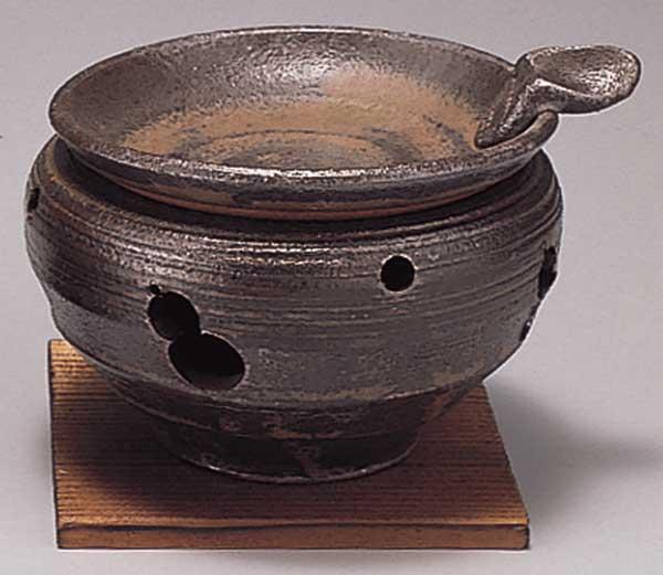 温かみのある手造りインテリア 器族倶楽部 香炉 陶器 豊富な品 正規認証品 新規格 灰流しゆったり茶香炉 プレゼント 贈り物 箱入り アロマ