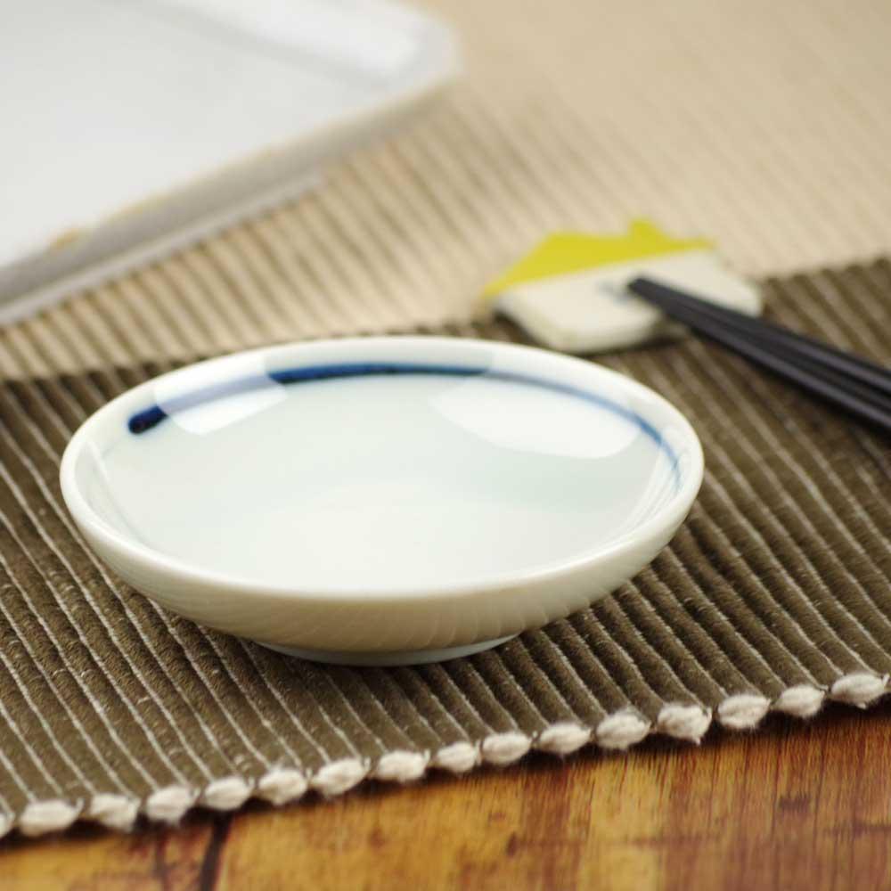 シンプルで使いやすいしょう油皿です。 小皿 タレ皿 醤油皿/ 一筆9.2cm小皿 /業務用 居酒屋 定食屋