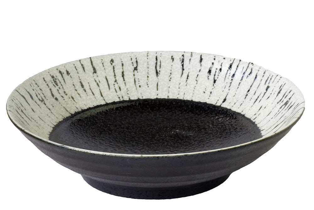 和食器 めん皿 麺鉢 新色追加して再販 大皿料理に 黒潮8.0盛鉢 料亭 飲食店 旅館 驚きの価格が実現 業務用