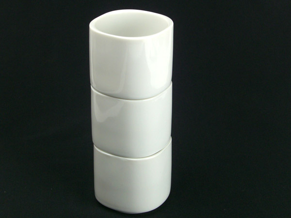 White stack hotel cup