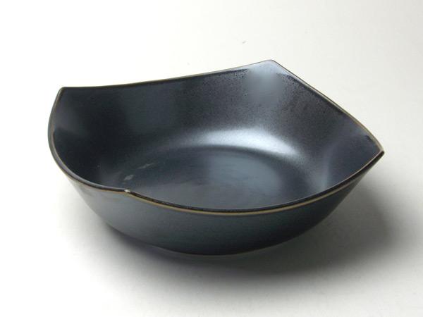 和食器 大鉢 ブランド激安セール会場 海外限定 黒結晶7寸角鉢