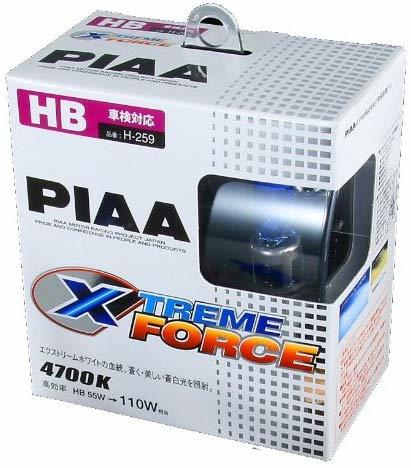 PIAA ピア H-259 HBハロゲンバルブ エクストリームフォース 55W⇒110W【H.I.D.を凌ぐ4700K!】