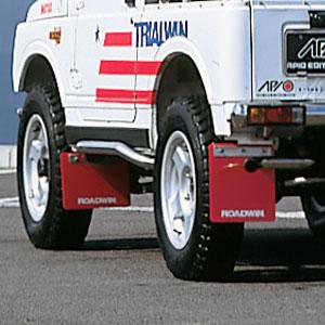ジムニー エクステリア ROADWIN JA11AT車用 マッドフラップ・フロント アピオ APIO