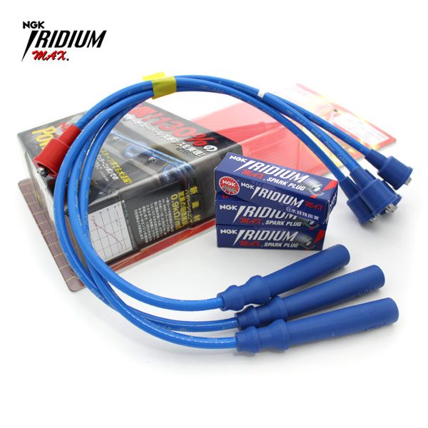 ジムニー 電装 NGKパワーケーブル&イリジウムプラグ イリジウムMAX JA71 JA11 JA12