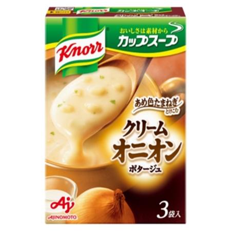 味の素 クノール 出群 カップスープ クリームオニオンポタージュ 54.3g×60袋 3袋入 待望