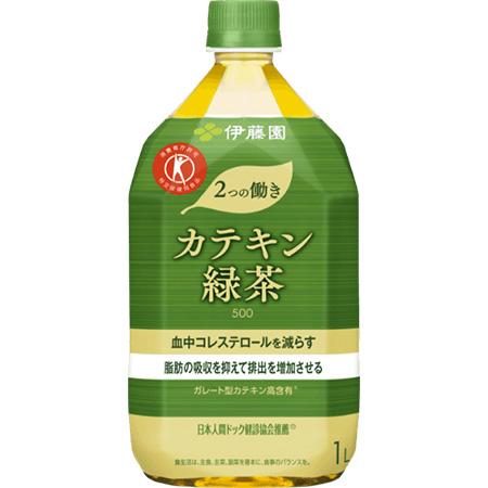 血中コレステロールを減らす 脂肪の吸収を抑えて排出を増加させる 伊藤園 2つの働きカテキン緑茶 人気の定番 特定保健用食品 1000ml×12本 お歳暮