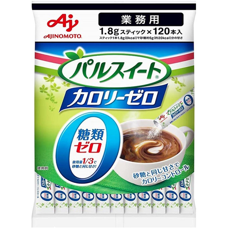 AJINOMOTO セール価格 直送商品 -味の素- パルスイート 業務用 カロリーゼロ顆粒スティック1.8g 120本入り×1袋