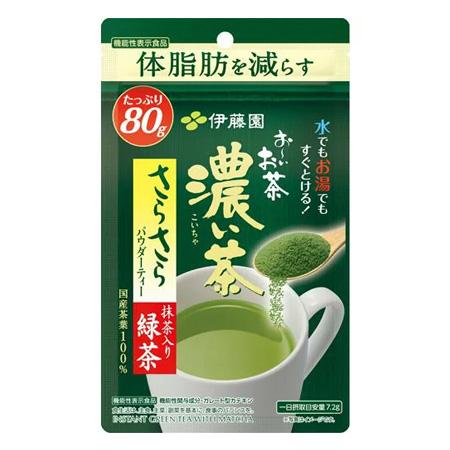 日本最大級の品揃え 伊藤園 お~いお茶 『1年保証』 濃い茶 さらさら抹茶入り緑茶 80g×6袋