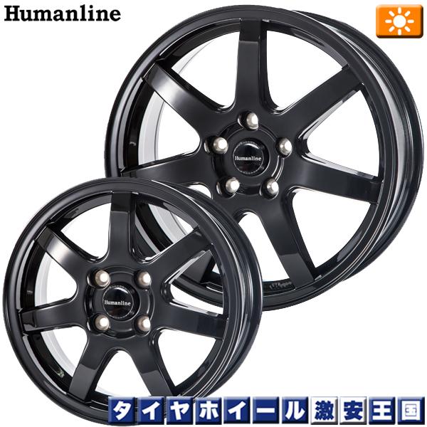 【取付対象】送料無料 195/65R15 WINRUN ウィンラン R380 ヒューマンライン HS07 ブラック 6.0J-15インチ 新品 サマータイヤ ホイール4本セット