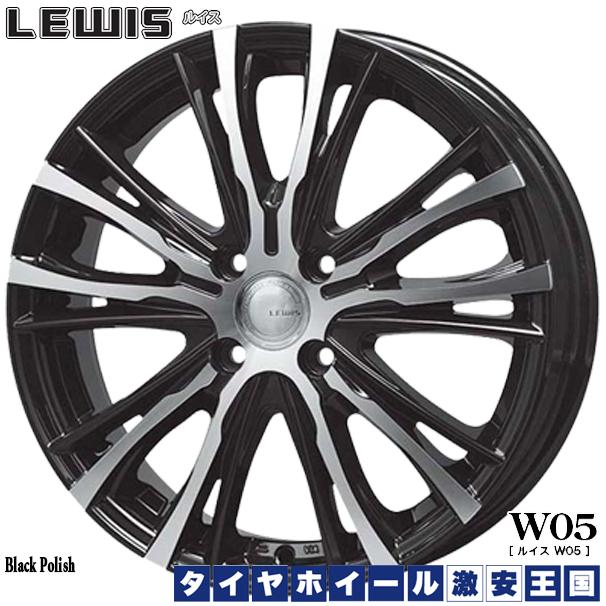 【取付対象】送料無料 165/65R14 WINRUN ウィンラン R380 LEWIS ルイス W05 ブラックポリッシュ 4.5J-14インチ 軽自動車用 新品サマータイヤホイール 4本セット