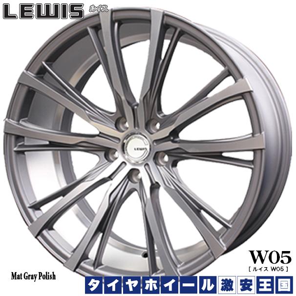 W05 【送料無料】 FK510 ファルケン LEWIS ルイス 新品サマータイヤ FALKEN 245/45R20 ホイール4本セット マットグレイポリッシュ 8.5J-20インチ