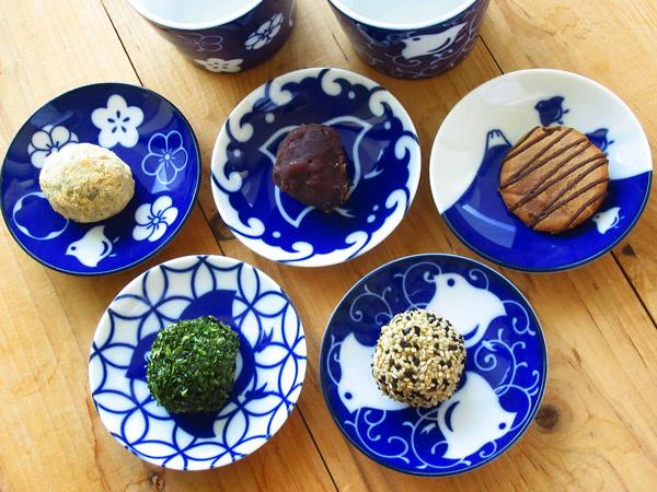 注目ブランド 5☆好評 千鳥づくし 千鳥 染付け 小皿 9.3cm 3寸皿 薬味皿 美濃焼 ざるそば 藍 丸皿 和食器 可愛い 選べる5柄