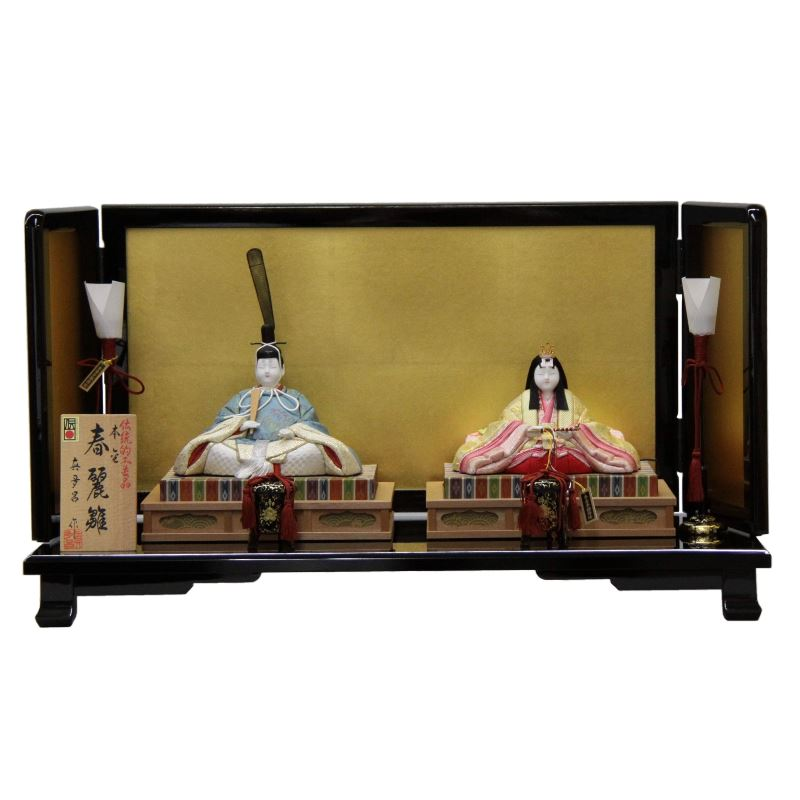 【雛人形】平飾り木目込み親王 本金春麗雛1816 幅60cm 3mk23 真多呂 伝統的工芸品 雛祭り
