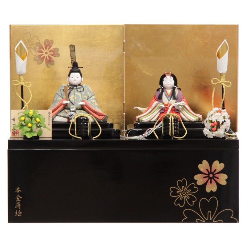 雛人形 木目込み 親王収納飾り 新小雪 hn34 9hs1258 幅50cm 幸一光 (193to1265) 雛祭り