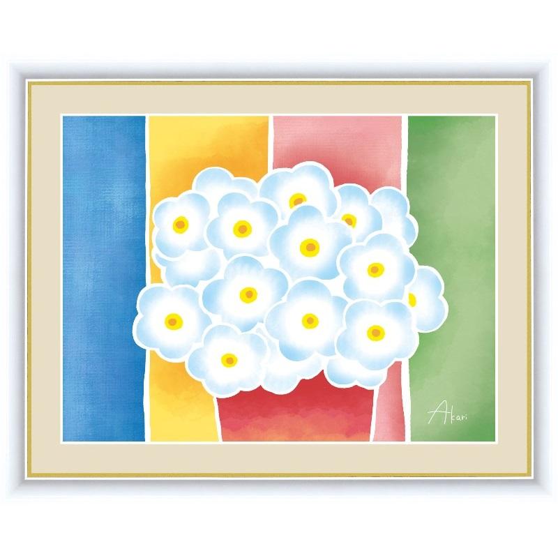 額絵 [ちょっと気になる植物たち] 【青い花の鉢植え】 [F6] [春田あかり] [G4-CG004-F6]【代引き不可】