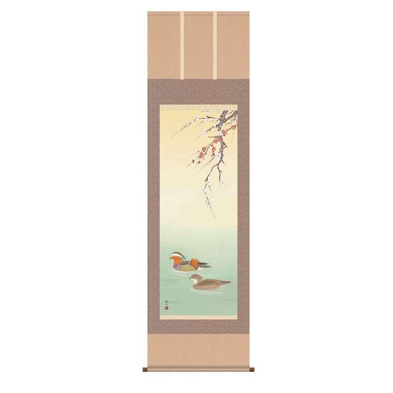 掛軸 [花鳥画] 【鴛鴦】 浮田秋水 尺五 [H30A5-032]【代引き不可】