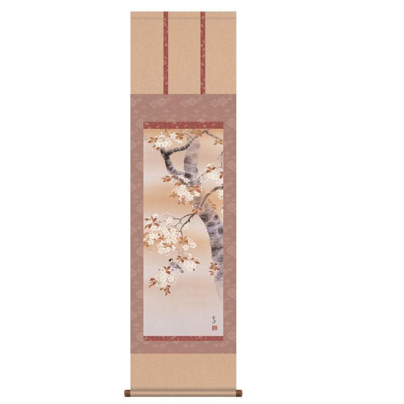 [掛軸] 日本のお土産 【桜花に小鳥】 近藤玄洋 [尺三] [NOH30MA6-02A]【代引き不可】