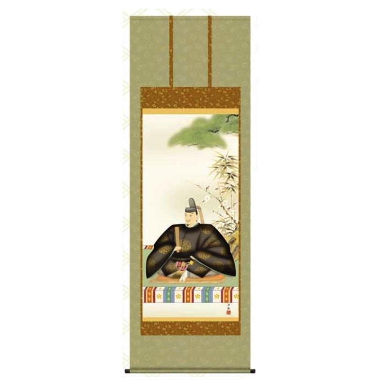 掛軸 【天神】 [小野洋舟] 尺八 [T1C4-047]【代引き不可】