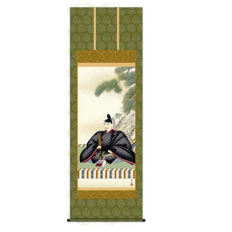掛軸 【天神】 [小野洋舟] 尺八 [T2C4-043]【代引き不可】
