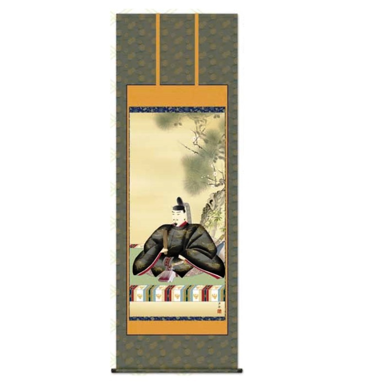 掛軸 【天神】 [小野洋舟] 尺八 [T2C4-053]【代引き不可】