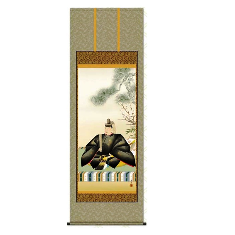 掛軸 【天神】 [小野洋舟] 尺八 [T2C4-054]【代引き不可】