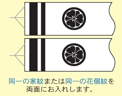 [徳永鯉][鯉のぼり]吹流し[10m~3m鯉用][同一の家紋または同一の花個紋][tn-F1a][日本の伝統文化][こいのぼり]