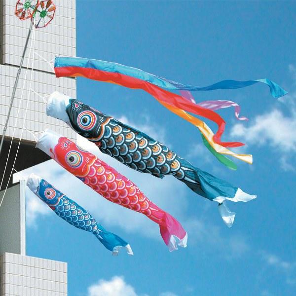 【予約受付中】 [徳永][鯉のぼり]ベランダ用[ファミリーセット]格子取付タイプ[2m鯉3匹][ゴールド鯉][五色吹流し][日本の伝統文化][こいのぼり], Fralya -フラリア-:1c35dce8 --- canoncity.azurewebsites.net
