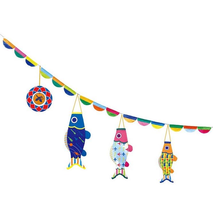 [徳永][鯉のぼり]おにわでこいのぼり[にわデコ][1m鯉3匹][のりもの][撥水加工][日本の伝統文化][こいのぼり]