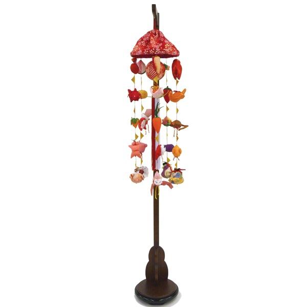 吊るし飾り まり飾り [特小] 傘付、吊り台付 [ 高さ 約83~125cm ] 雛人形