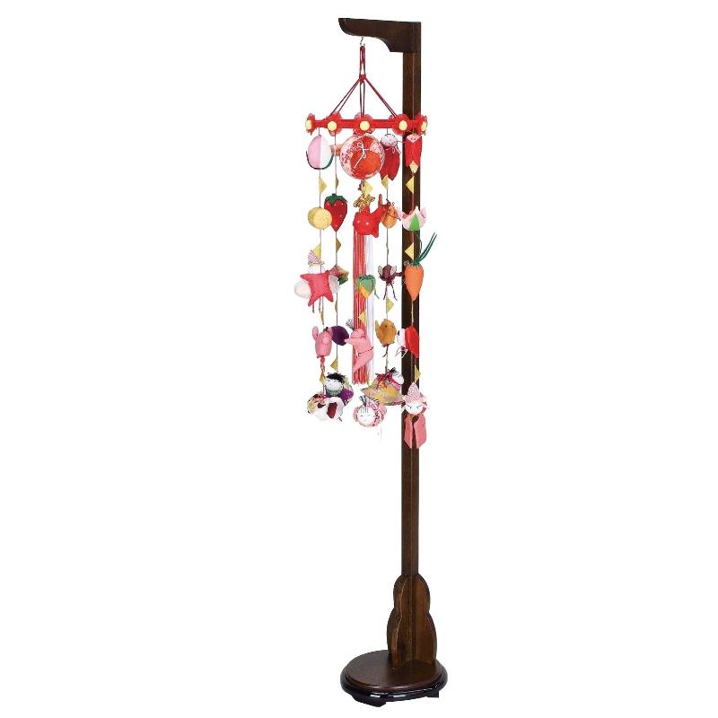 吊るし飾り まり飾り [特小] 吊り台付 [ 高さ 約83~125cm ] 雛人形