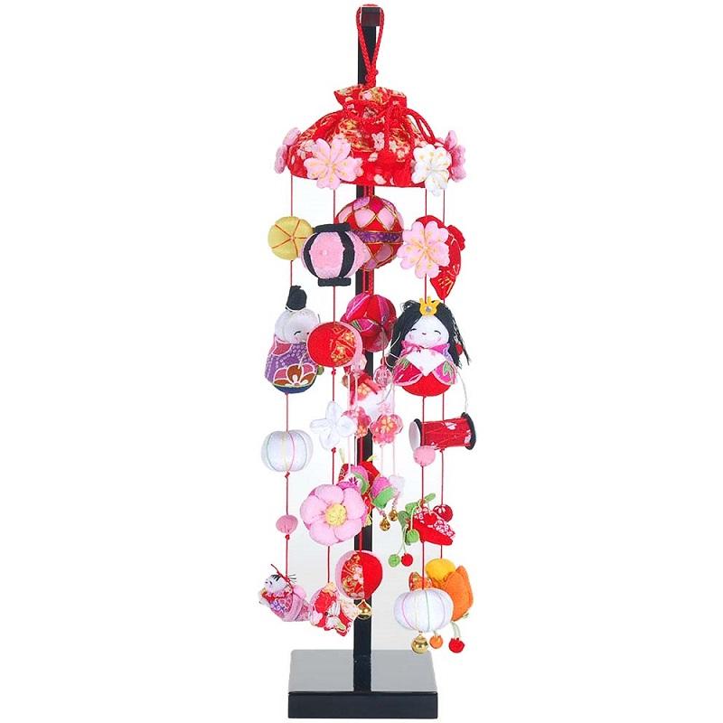 吊るし飾り【華まりびな】飾り台セット [特小] スタンド付き【sb3-hmb-ss】