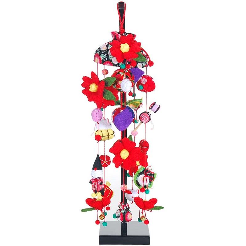 吊るし飾り【椿】飾り台セット [特小] スタンド付き【sb3-tbk-ss】