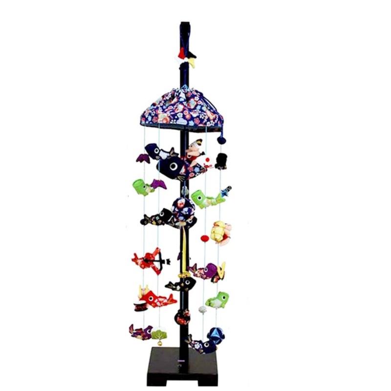 吊るし飾り【鯉いっぱい】飾り台セット [中] スタンド付き【sb5-kip-m】