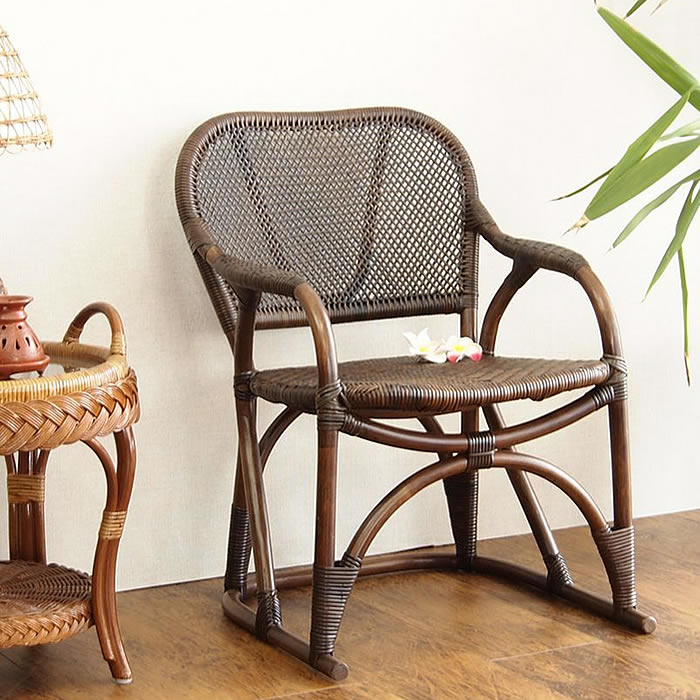 パーソナルチェア 籐椅子 おしゃれ ラタンチェア 8-005 1人掛け チェア 和モダン ラタン 座椅子 プレゼント 敬老の日 父の日 母の日 籐家具 イス