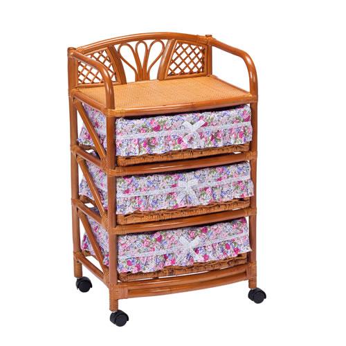 ラタン チェスト ランドリーボックス RE3段: 籐家具 ラタンチェスト 収納 アジアン 高品質 送料無料 K-Style