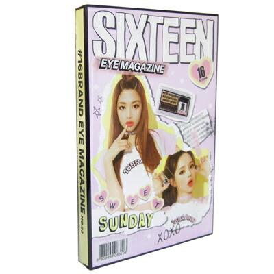 初回限定 ks 与え 16BRAND アイマガジン #03 SWEET ブラシ付き 2g SUNDAY スウィートサンディ 韓国コスメ