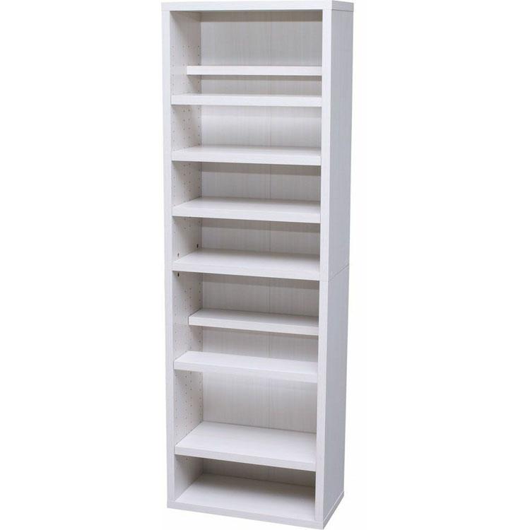 【エントリーでP5倍】本棚 薄型 7段 9段 大容量 おしゃれ 白 送料無料 ブックシェルフ BKSW-1860 全2色 ブラウン ホワイト アイリスオーヤマ