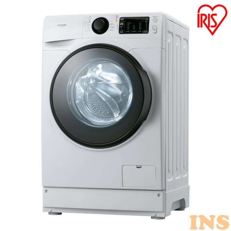 ドラム式洗濯機 8.0kg ホワイト HD81AR-W 送料無料 ドラム式洗濯機 洗濯機 ドラム式 銀イオン Ag+ 温水 全自動 部屋干し タイマー 衣類 洗濯 ランドリー ドラム式 温水洗浄 温水コース なるほど家電 白物家電 アイリスオーヤマ